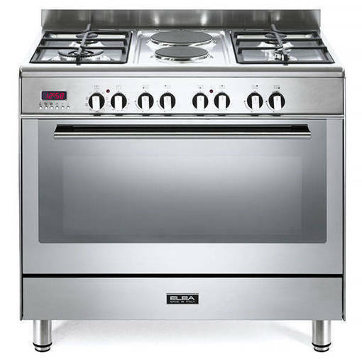 Elba Fusion 90cm Gas Electric Free Standing Gas Stove - Stainless Steel